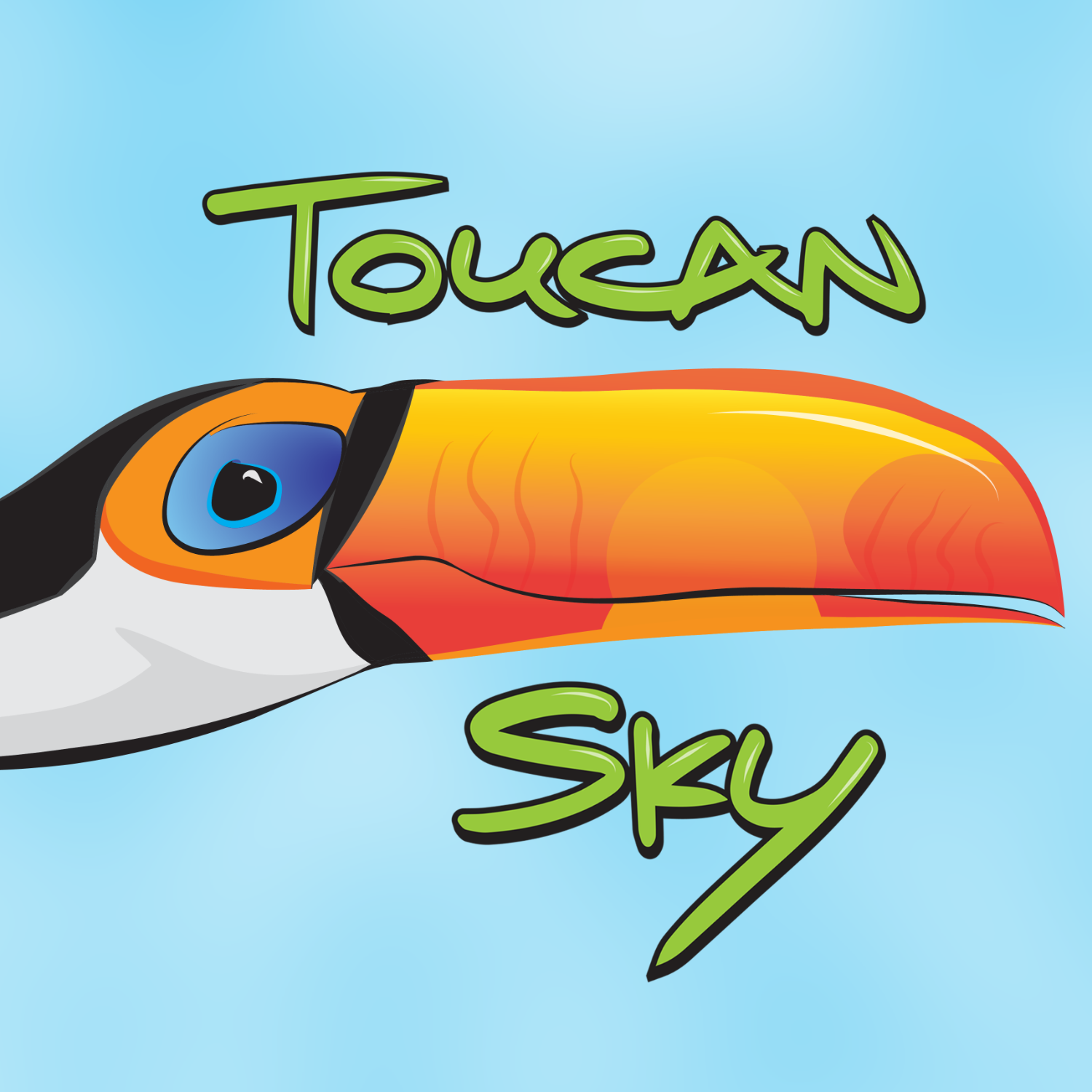 A logo showing a toucan and the words Toucan Sky